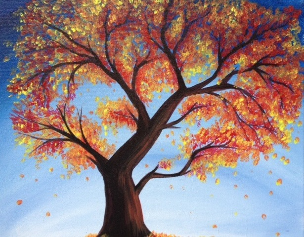 A Fall Fantasy paint nite project by Yaymaker