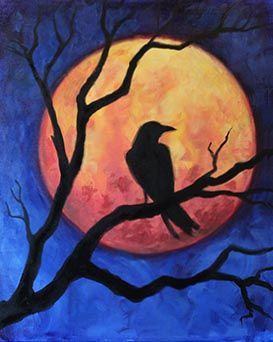 A October Raven paint nite project by Yaymaker