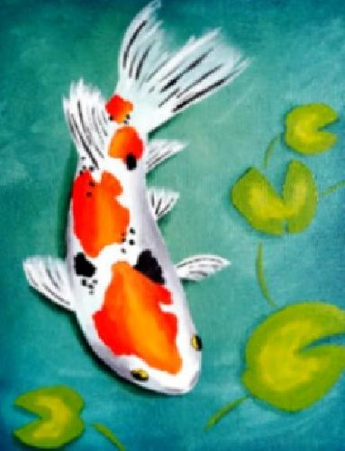 A Japanese Koi paint nite project by Yaymaker