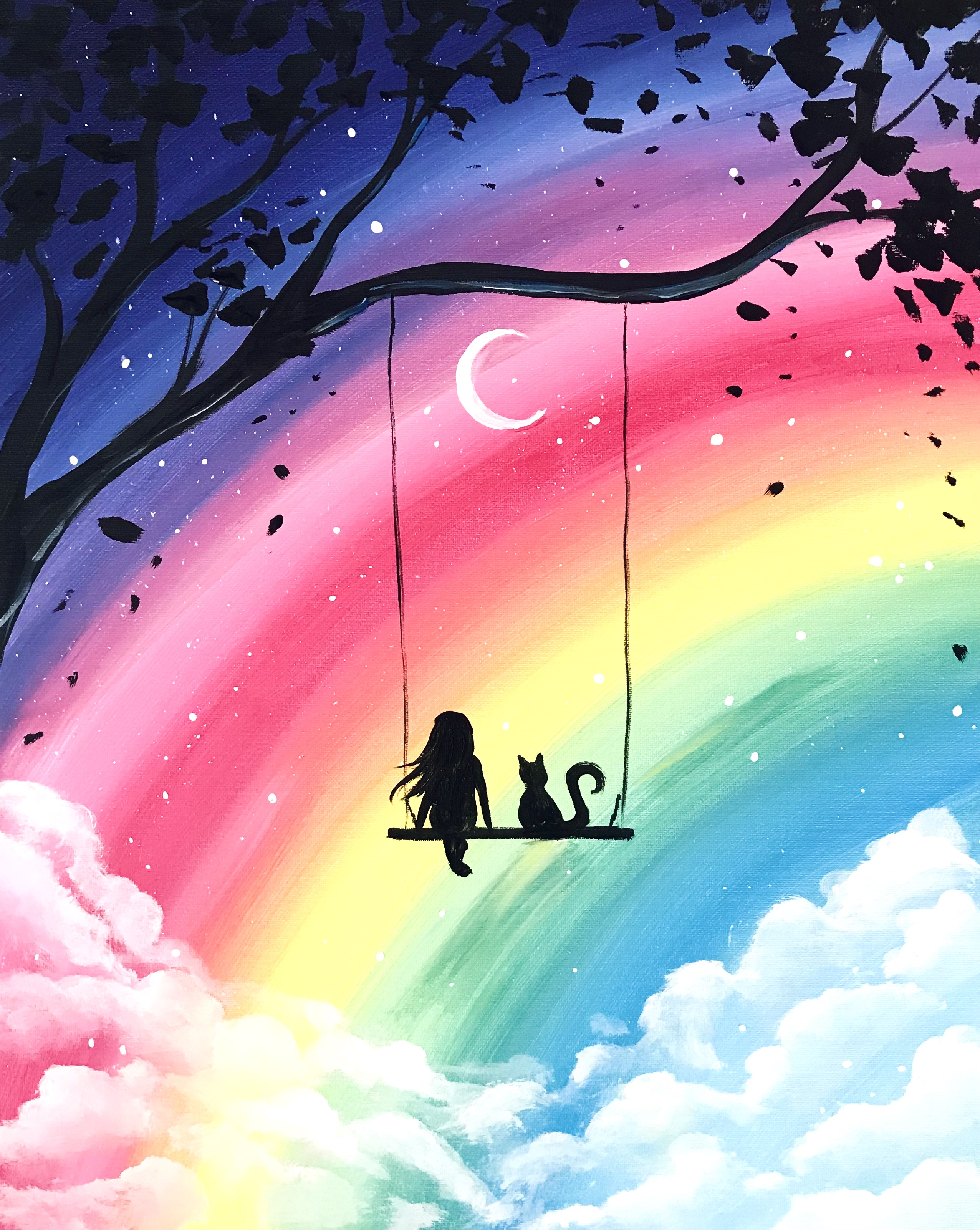 A Me and My Cat Over the Rainbow experience project by Yaymaker