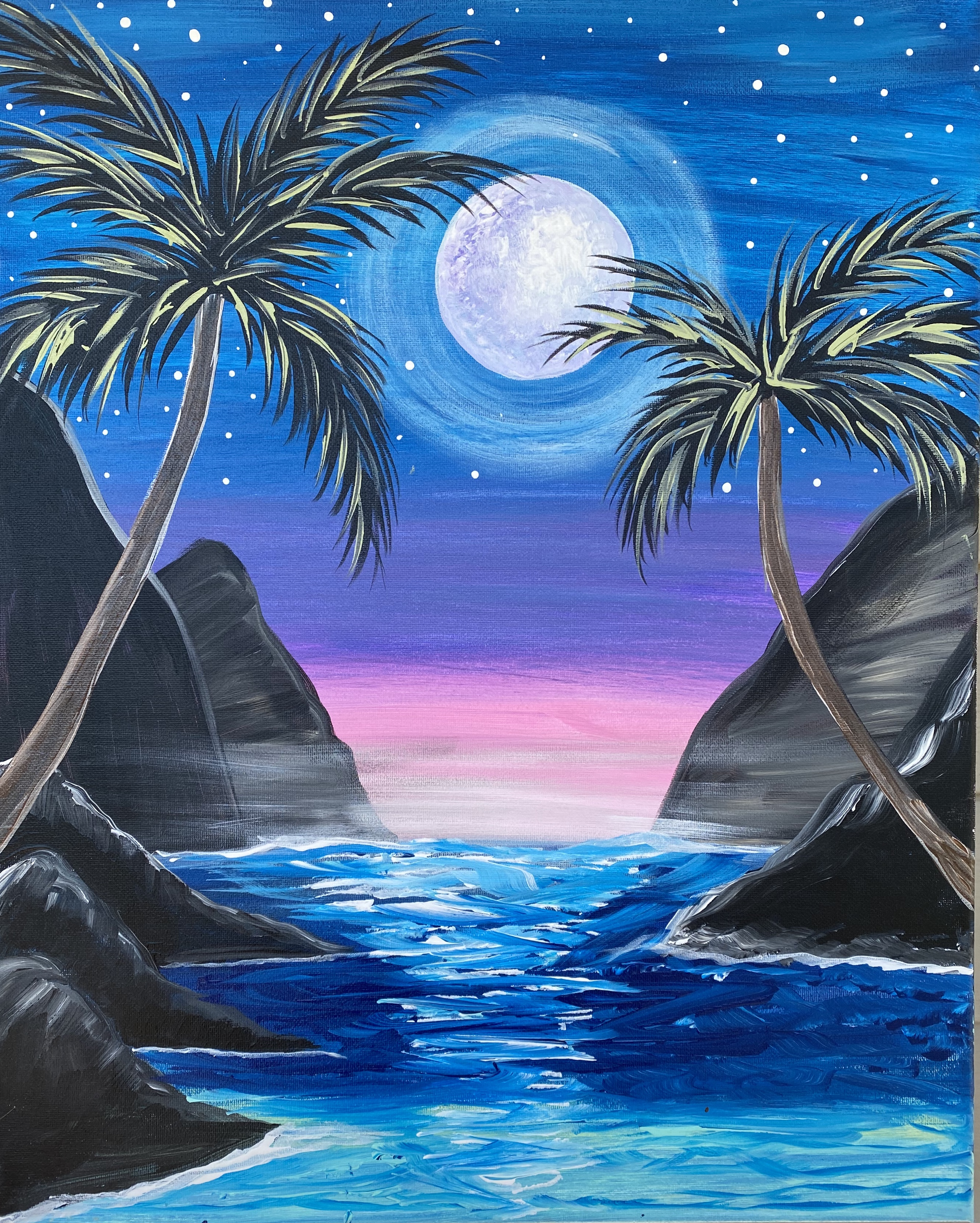 A Palm Trees in the Moonlight experience project by Yaymaker