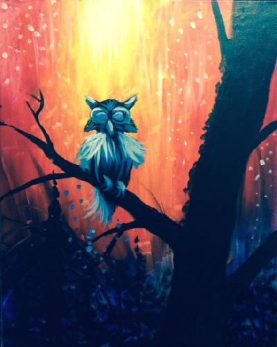 A Amber Night Owl paint nite project by Yaymaker
