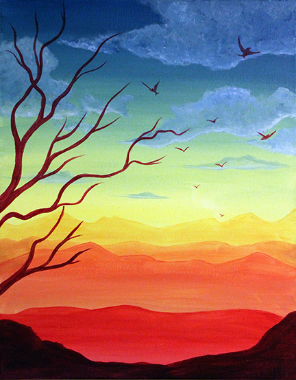 A Prism Sky paint nite project by Yaymaker