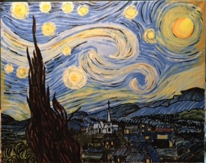 A Holy Starry Night paint nite project by Yaymaker