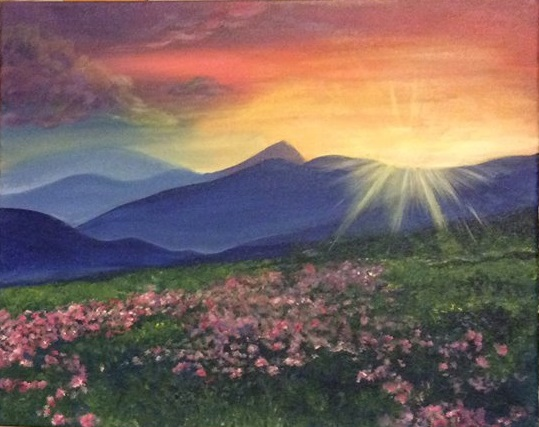 A Sunshine Mountain paint nite project by Yaymaker