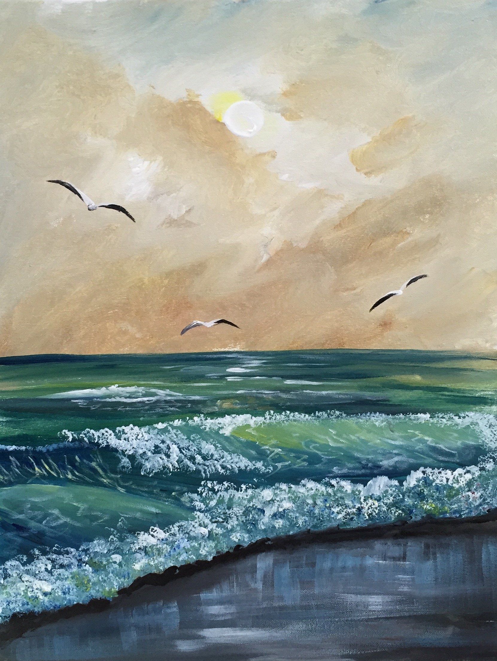 A Seagull Beach paint nite project by Yaymaker