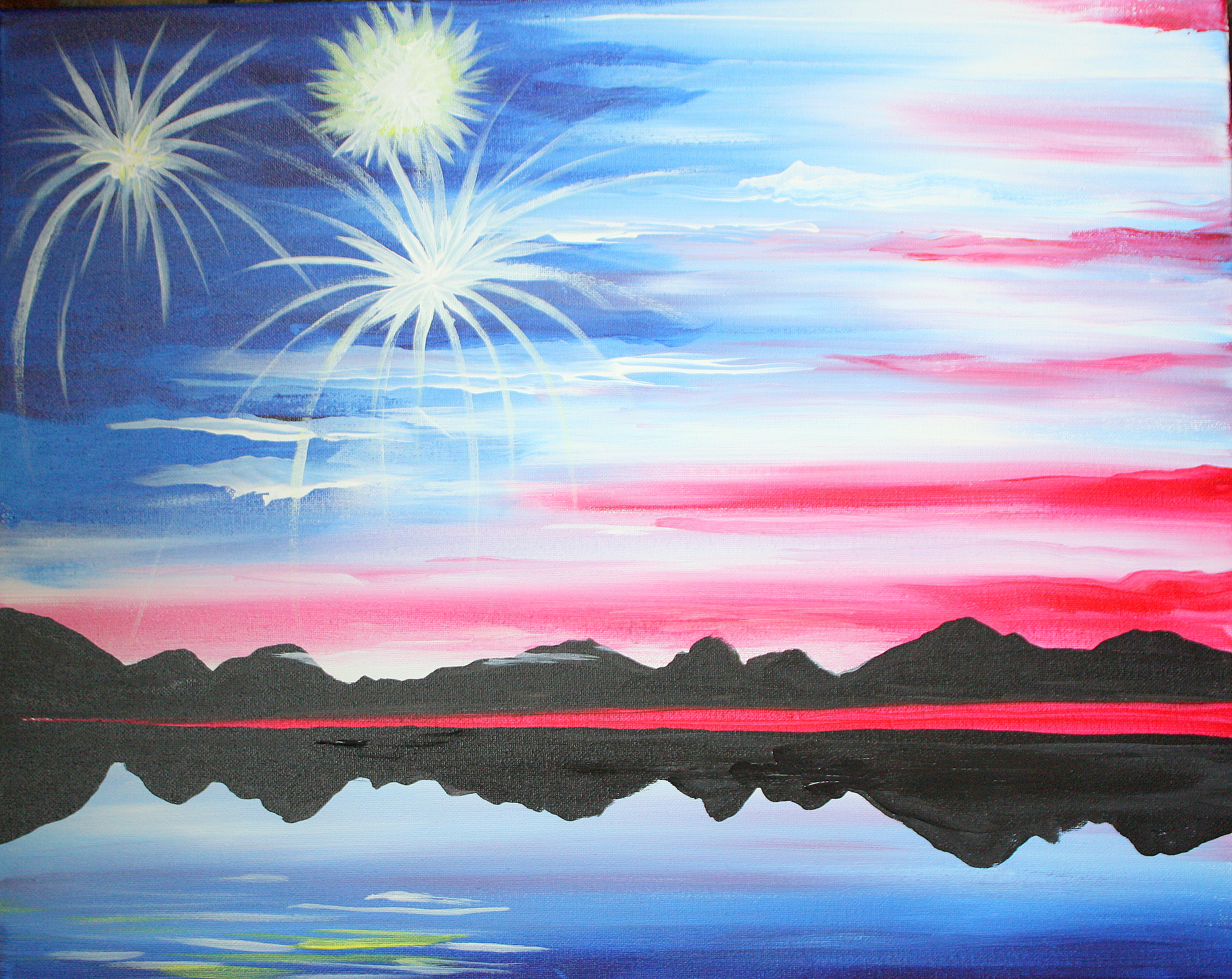 A American Sky paint nite project by Yaymaker