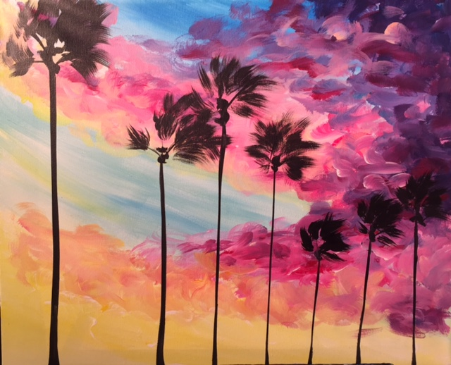 A Sunset Boulevard paint nite project by Yaymaker