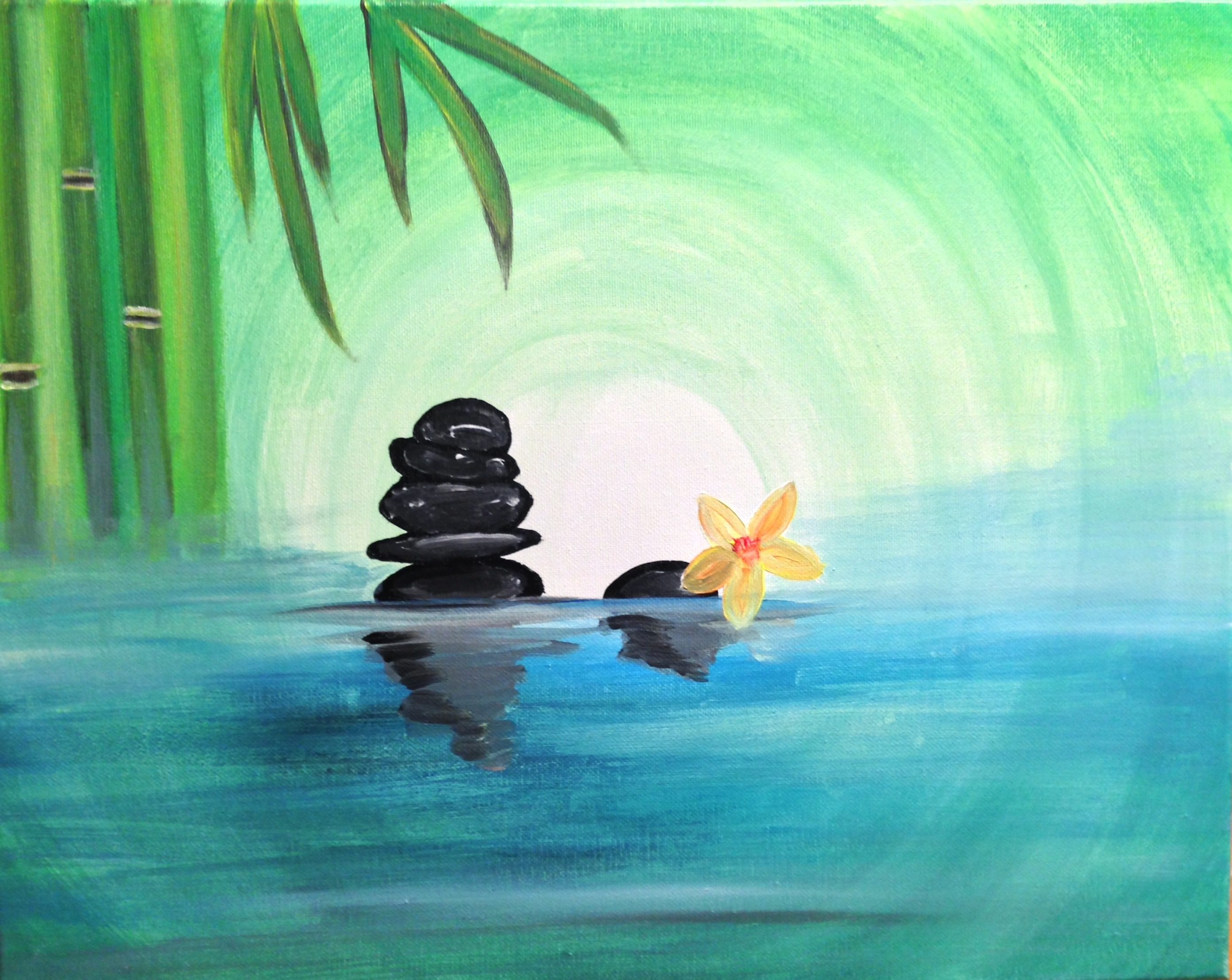 A Calming Waters paint nite project by Yaymaker
