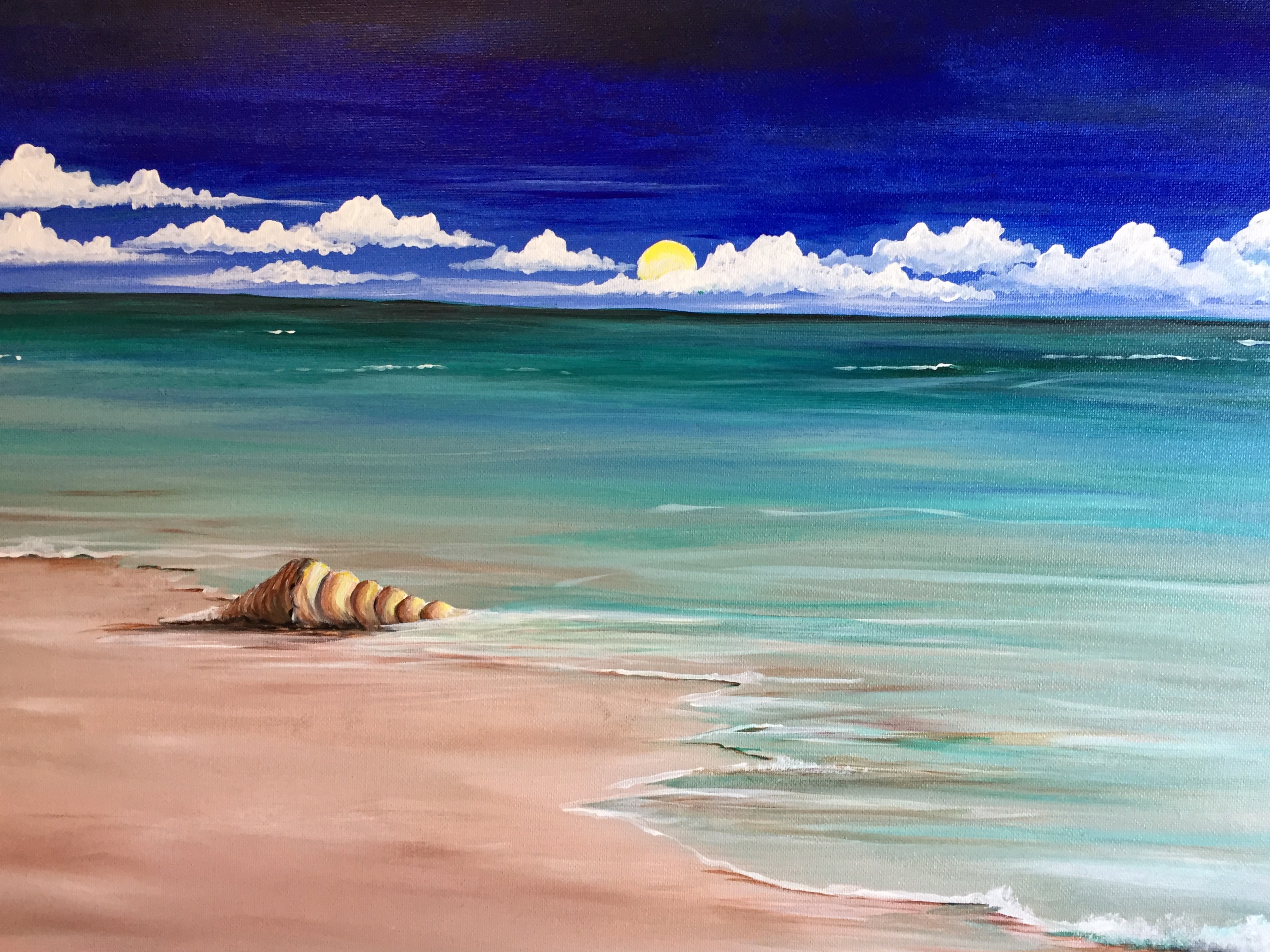 A Little Seashell paint nite project by Yaymaker