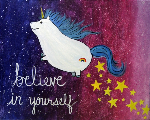 A Unicorn Dreams paint nite project by Yaymaker