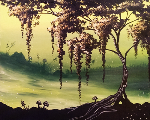A Fairy Willow paint nite project by Yaymaker