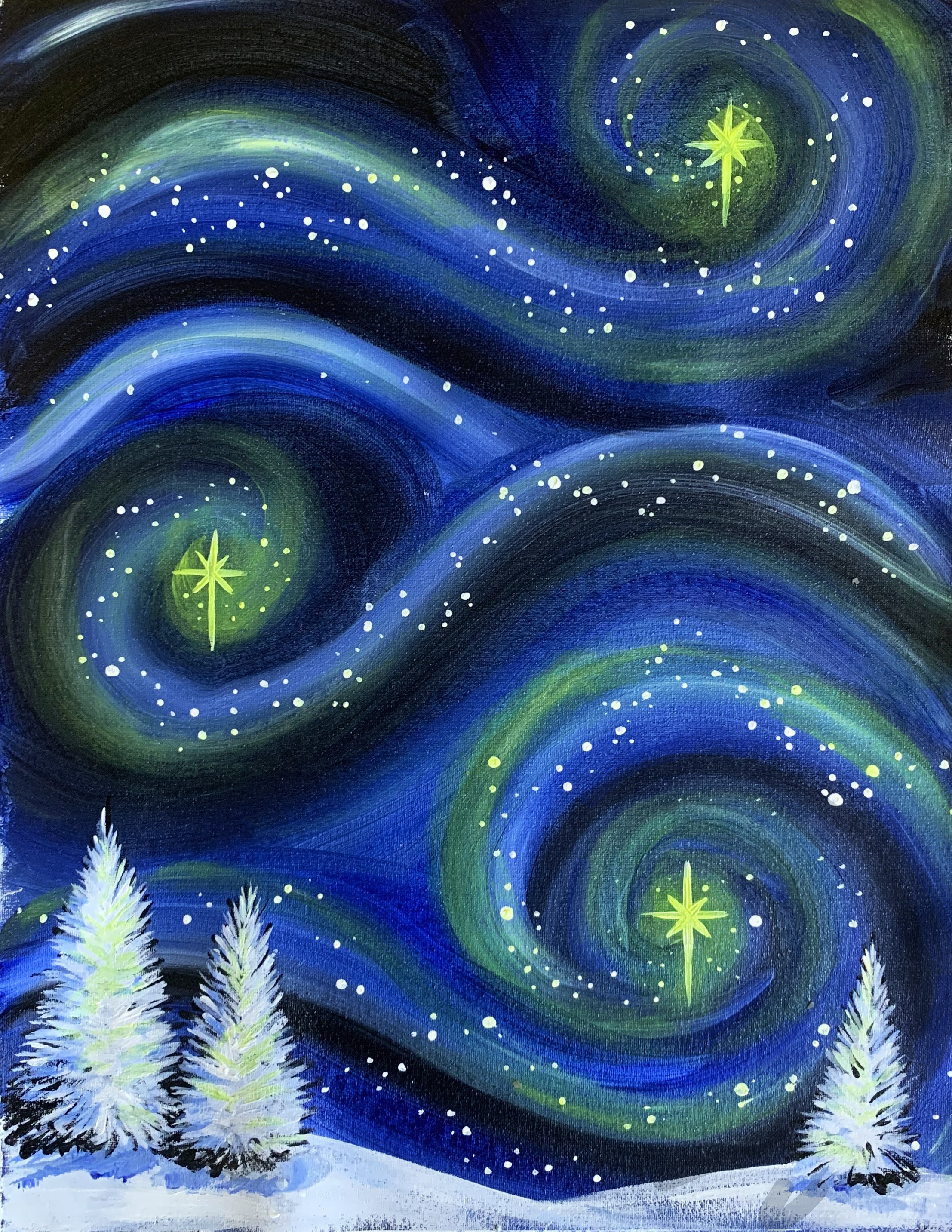 A Winter Starry Night experience project by Yaymaker