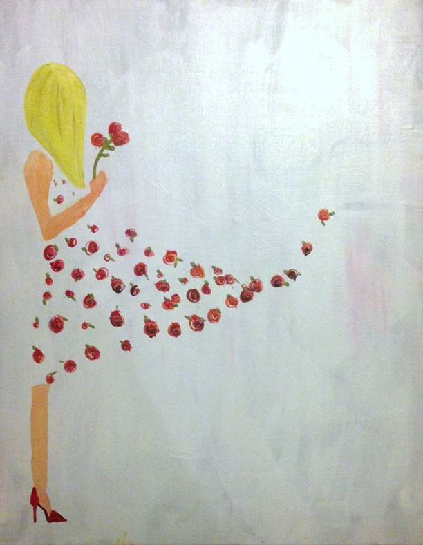 A Flower Girl paint nite project by Yaymaker