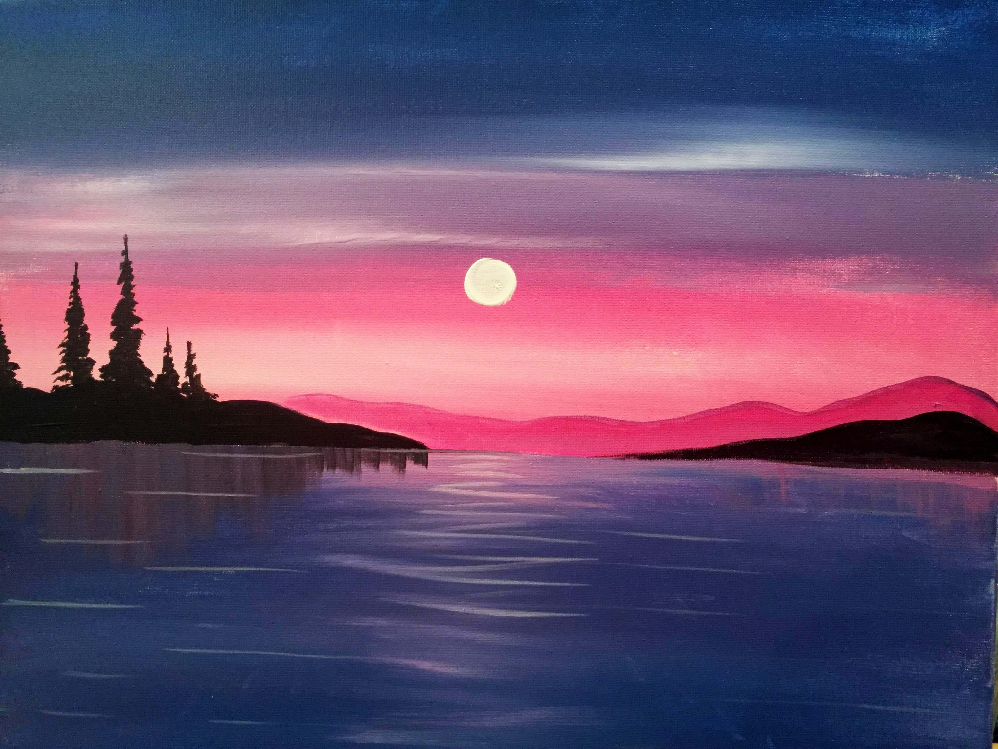 A Peaceful Waters paint nite project by Yaymaker