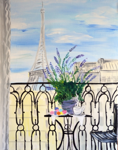 A Paris in My Dreams paint nite project by Yaymaker