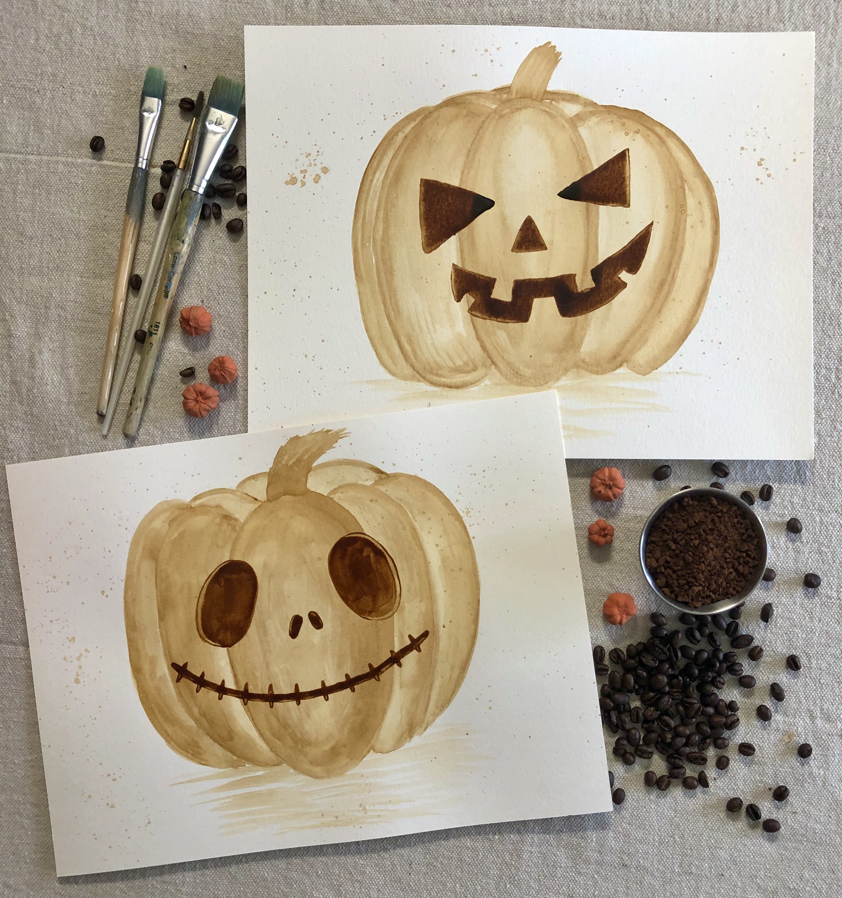 A Paint Your Own Instant Coffee JackOLantern experience project by Yaymaker