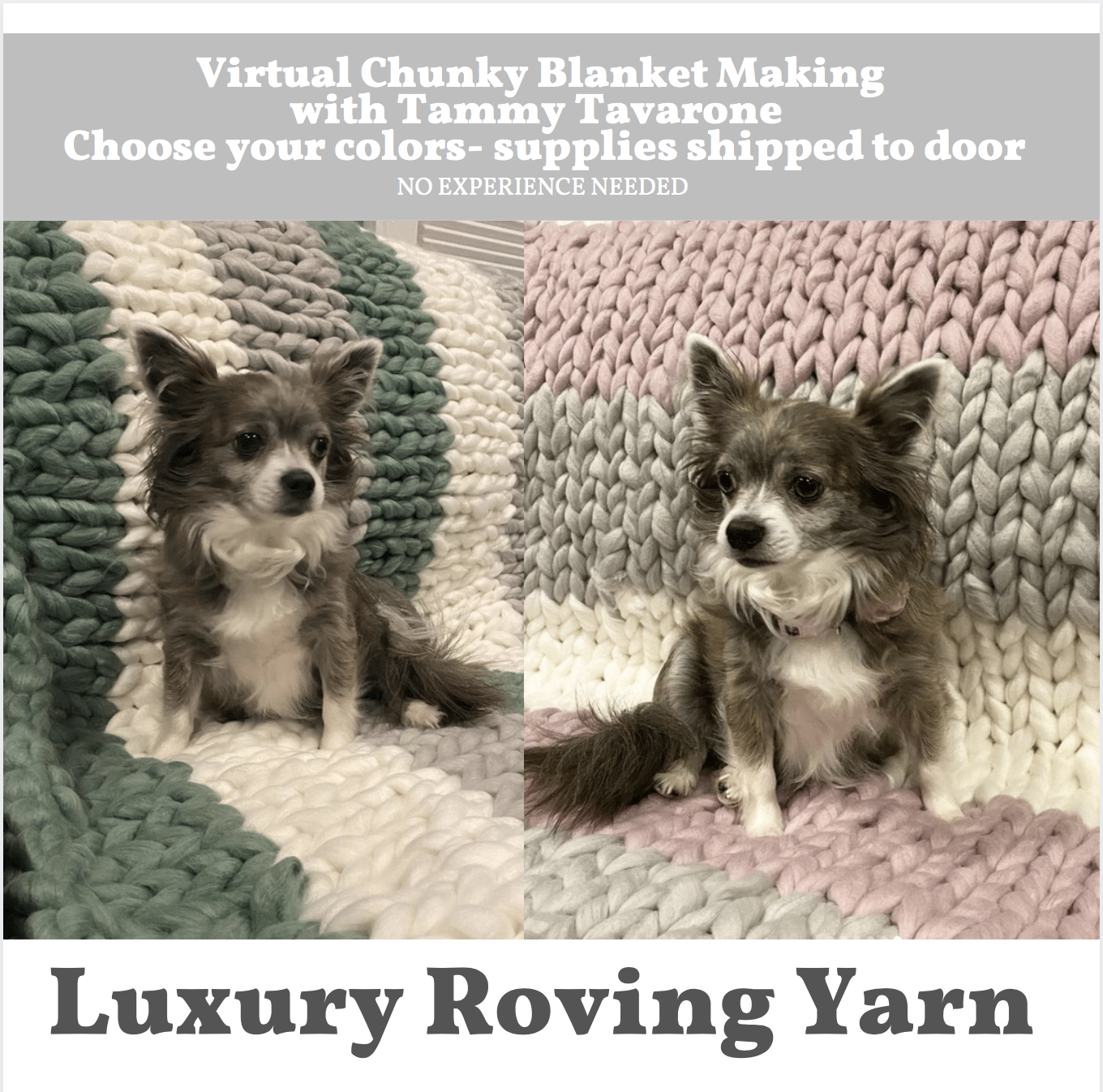 A Luxury Roving Yarn  Chunky Blanket Making with Tammy Supplies Shipped to Door experience project by Yaymaker