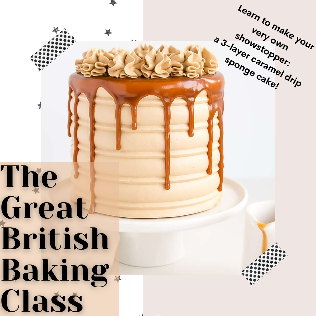 A The Great British Baking Class Caramel Drip Cake experience project by Yaymaker