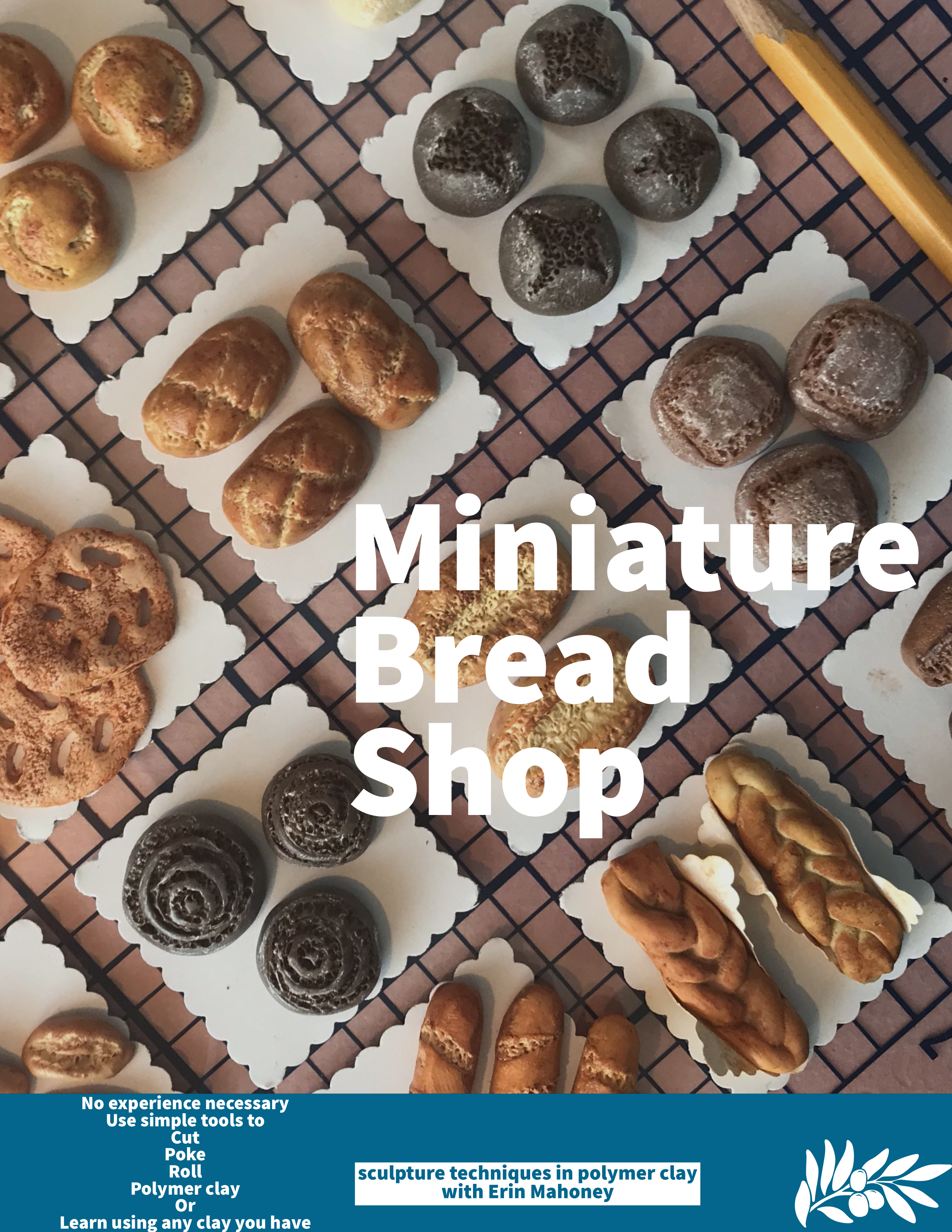 A Miniature bread shop  miniature sculpture in polymer clay  experience project by Yaymaker