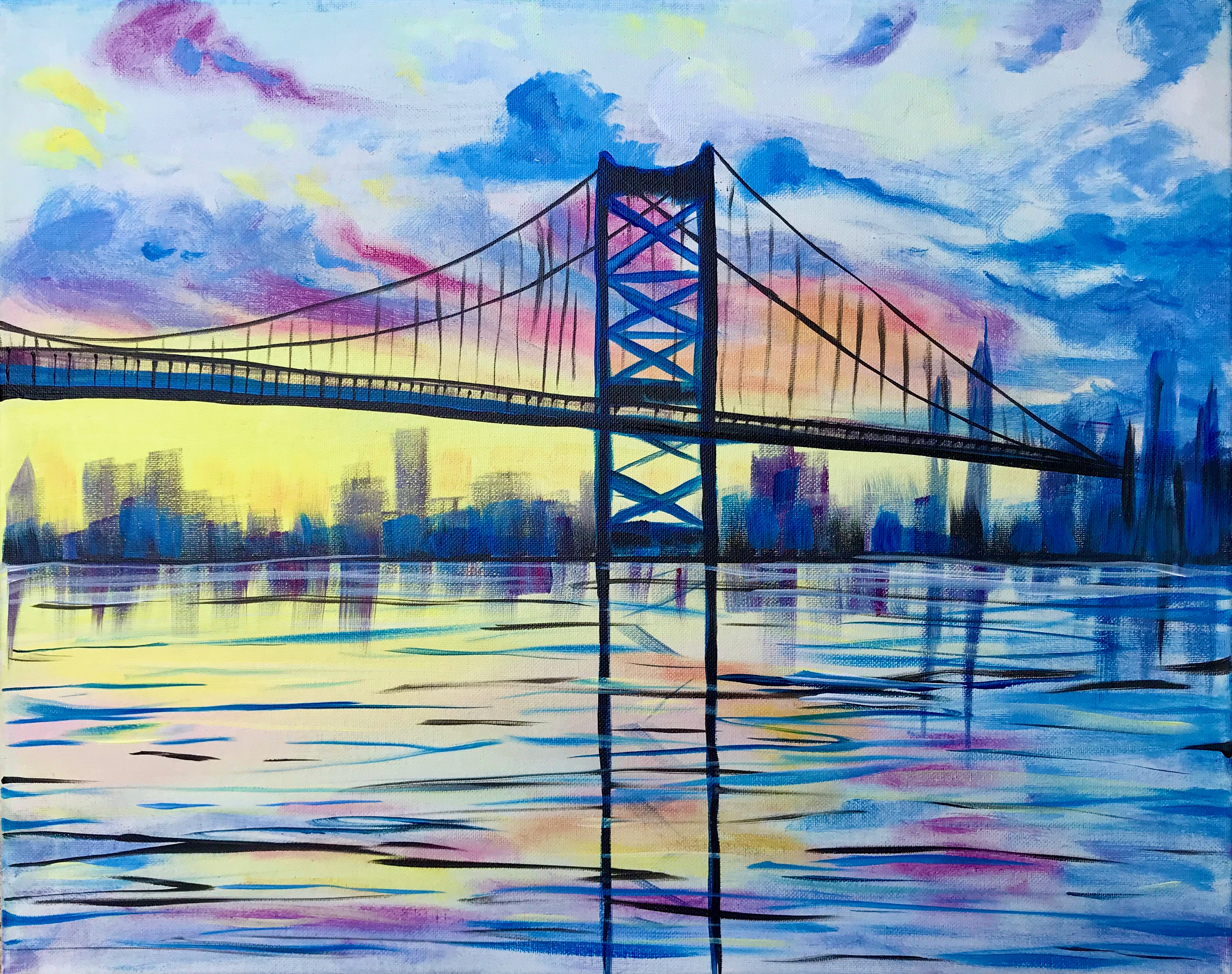 A Sunset Over Ben Franklin Bridge experience project by Yaymaker