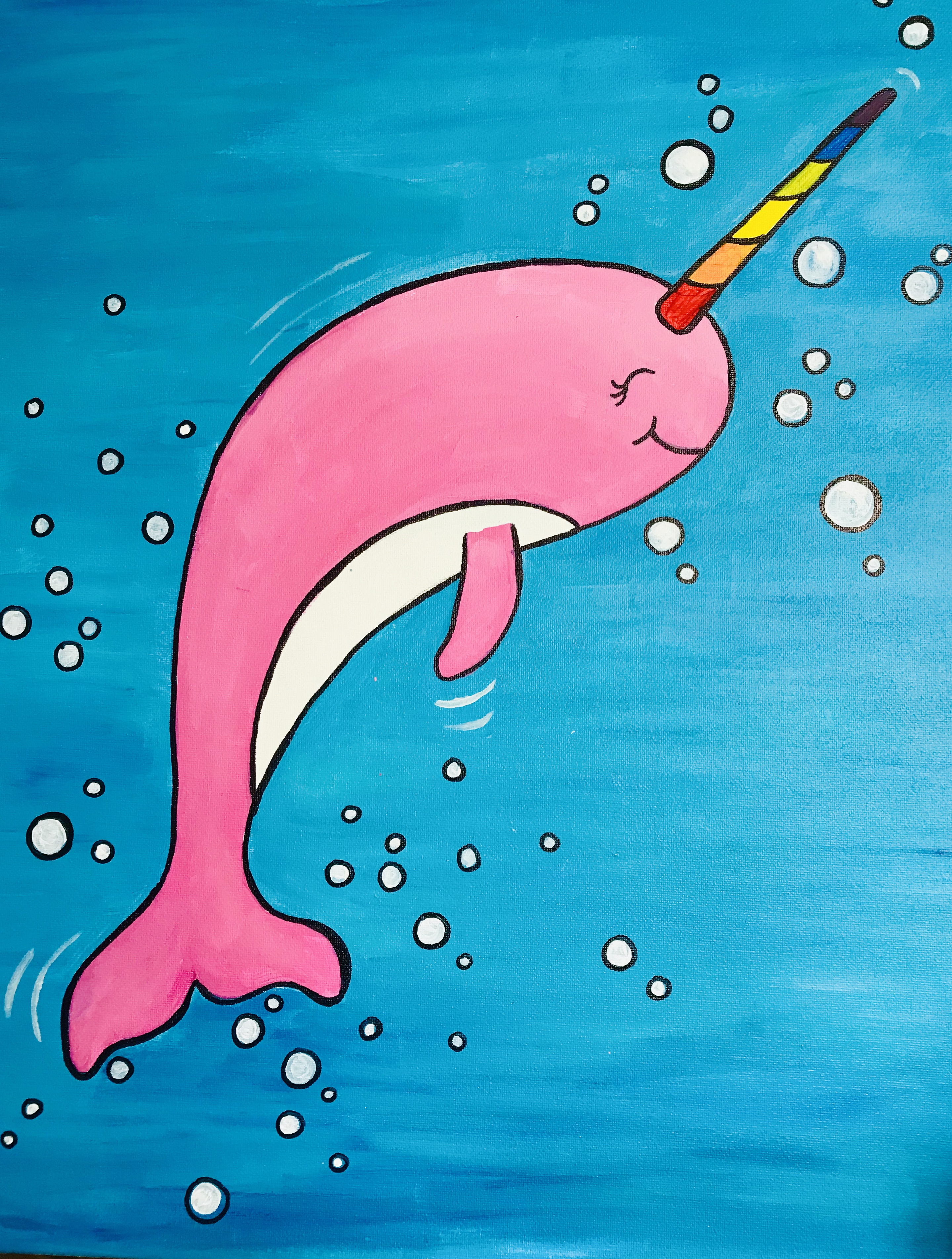 A Happy Rainbow Narwhal experience project by Yaymaker