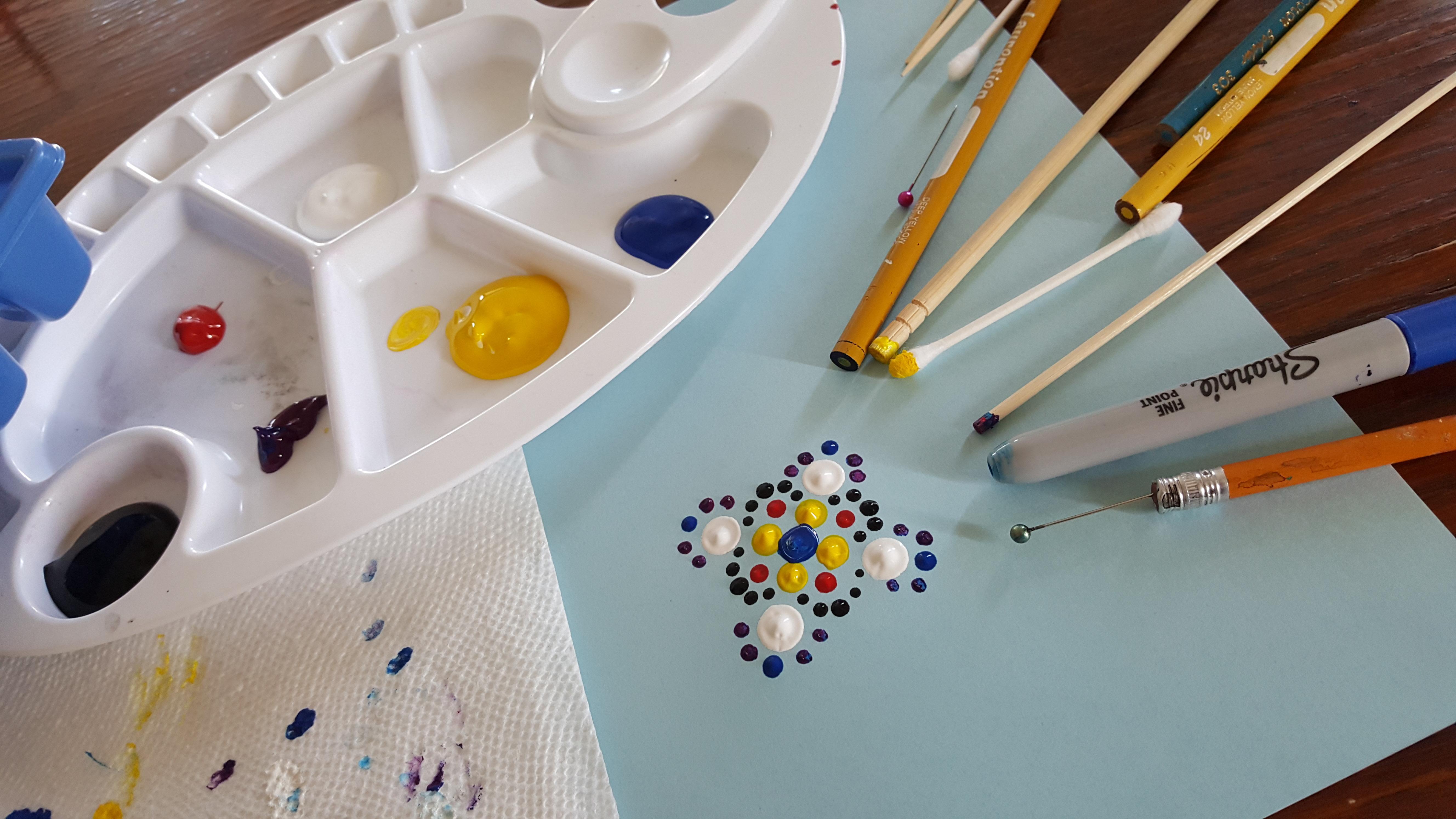 A Mandala Dot Art  Virtual Event experience project by Yaymaker