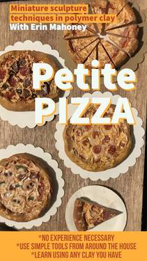 A Petite Pizza miniature sculpture in polymer clay  experience project by Yaymaker