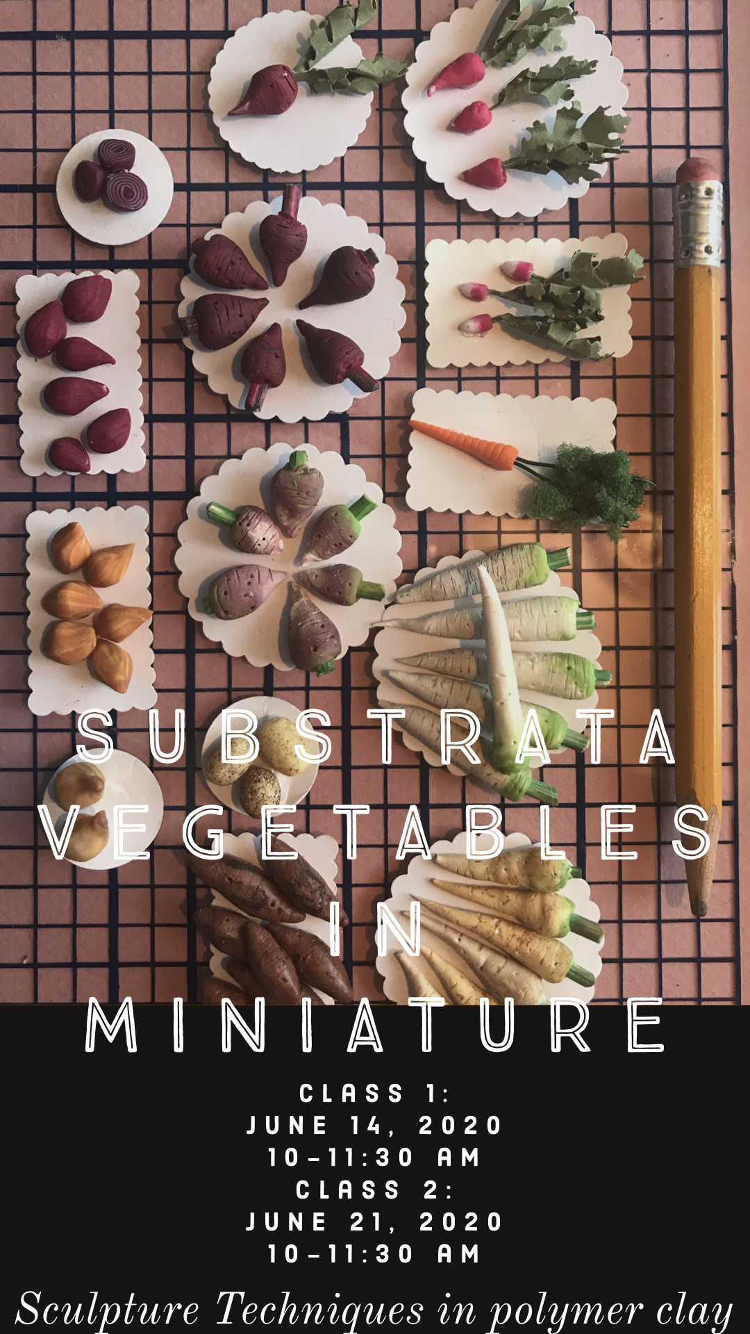 A Substrata Vegetables  miniature sculpture techniques in polymer clay  experience project by Yaymaker