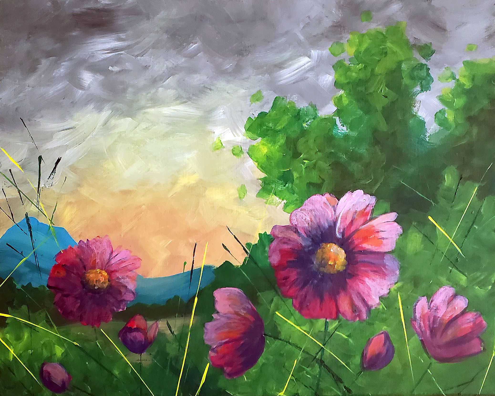 A Spring Mountain Meadow Sunset experience project by Yaymaker