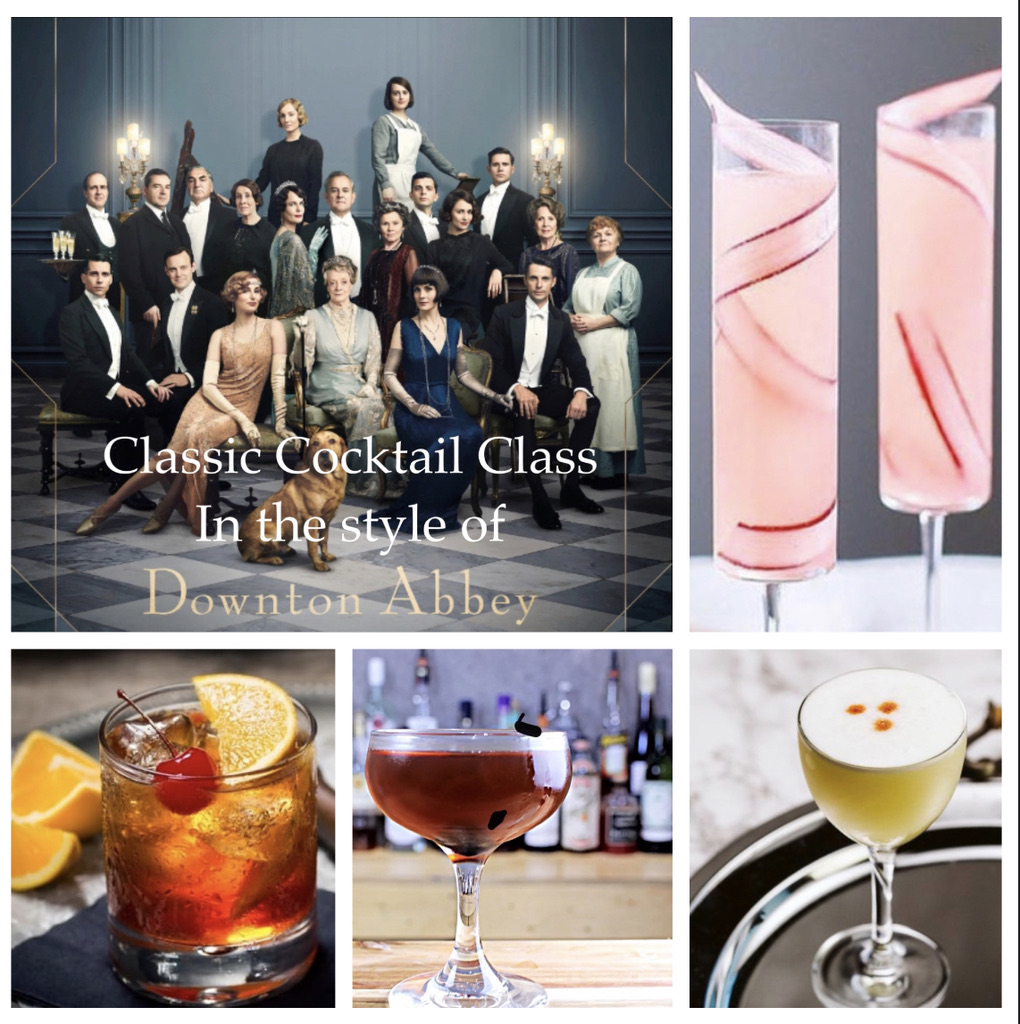 A Downton Abbey Cocktail Class  Trivia experience project by Yaymaker