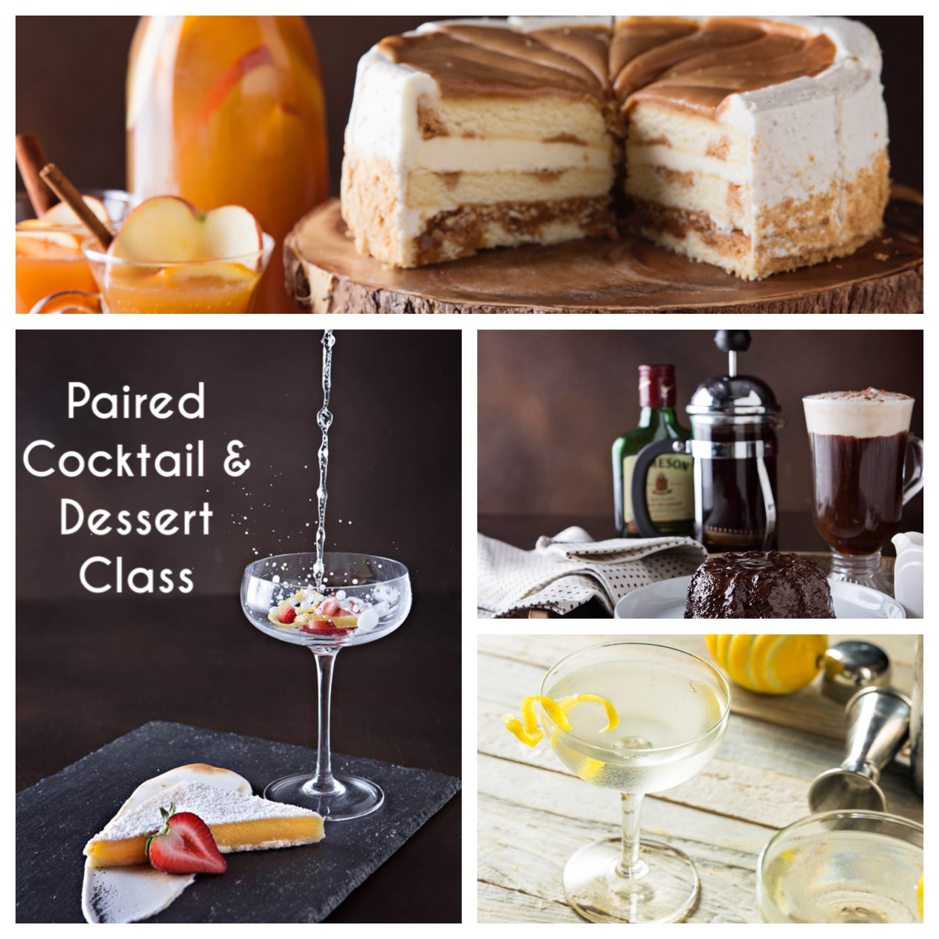 A Learn to Make 4 Desserts and Cocktails  4 Lucious Libations Paired with 4 Decadent Desserts experience project by Yaymaker