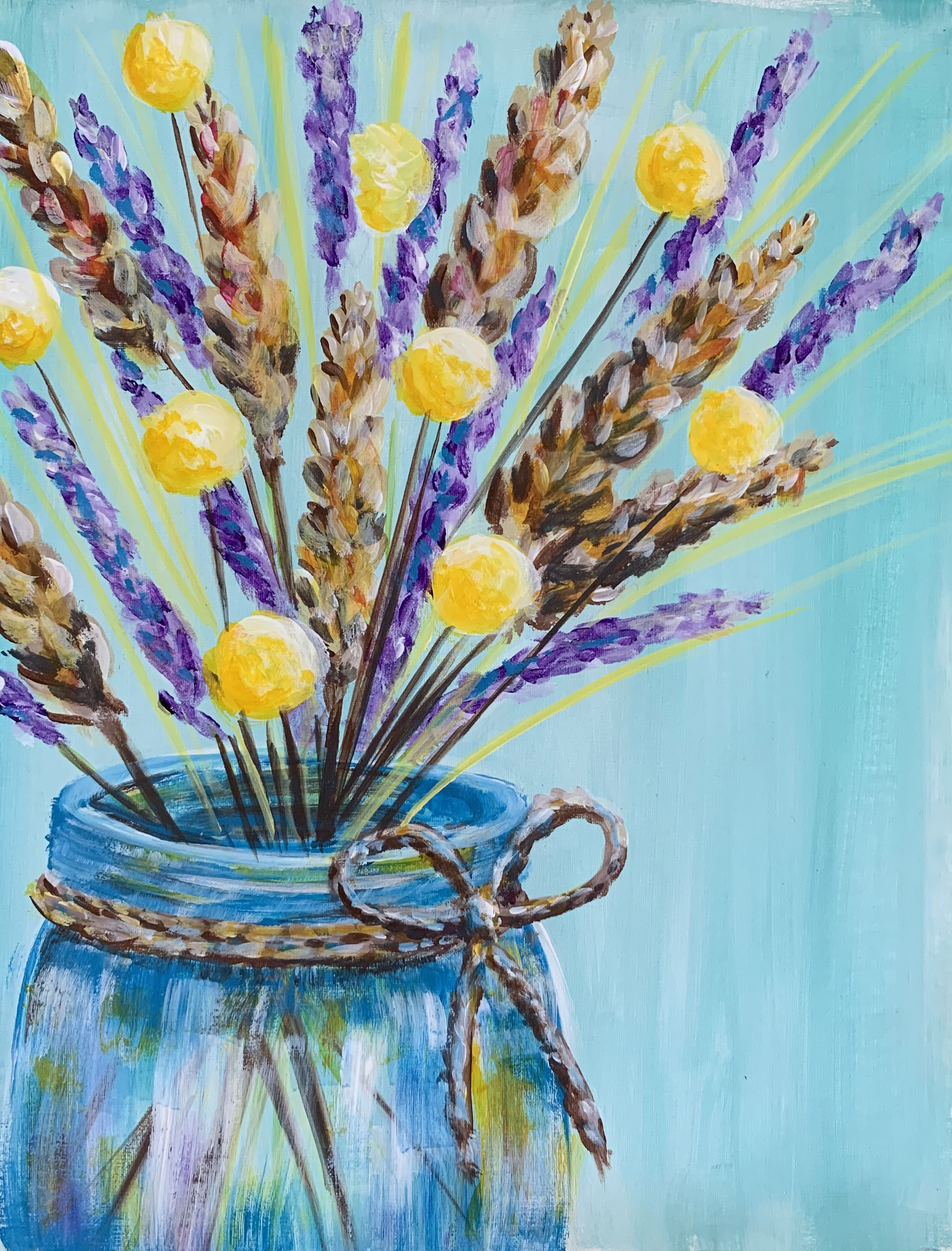A Lavender and Wheat bouquet experience project by Yaymaker