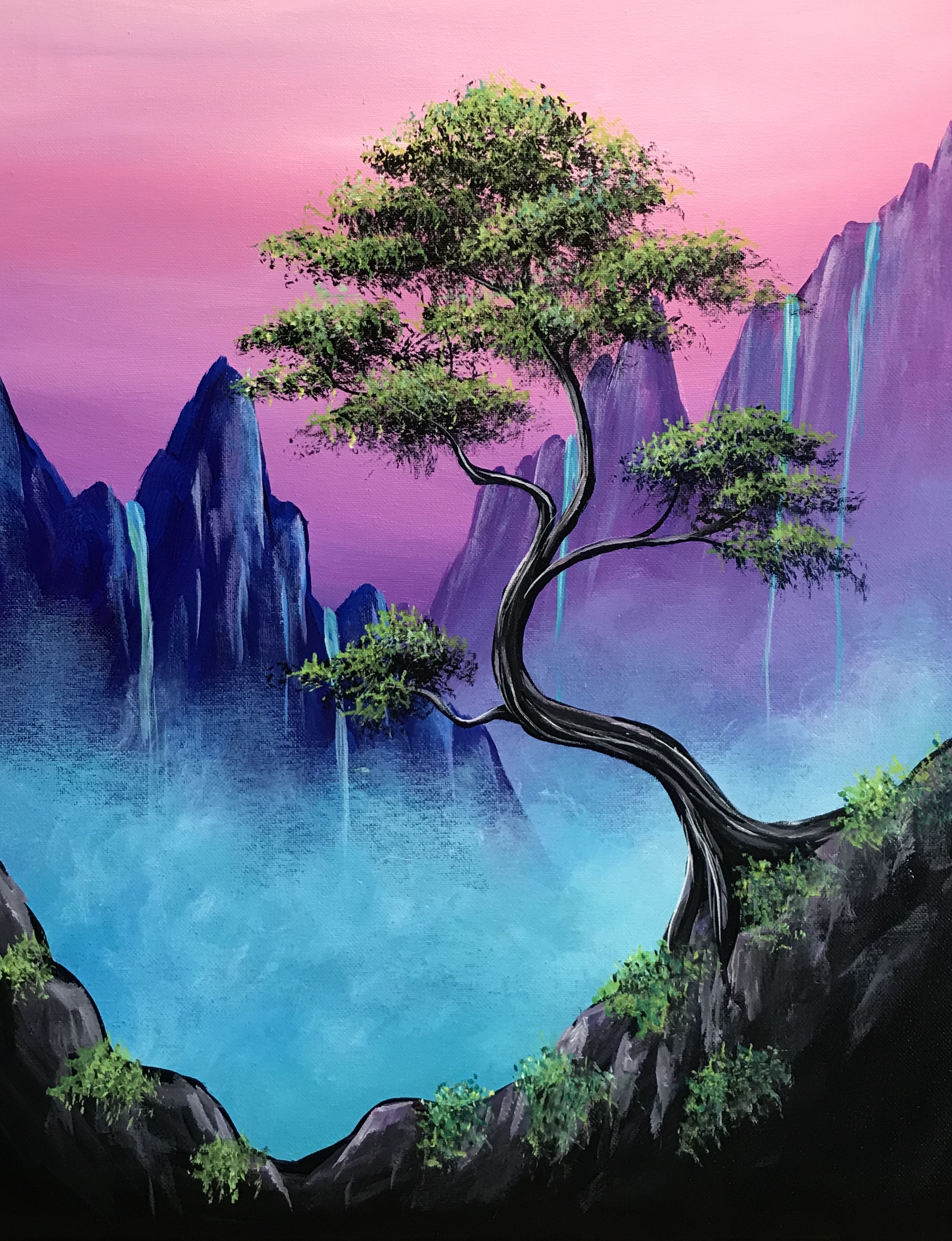 A Misty Mountain Bonsai Falls experience project by Yaymaker
