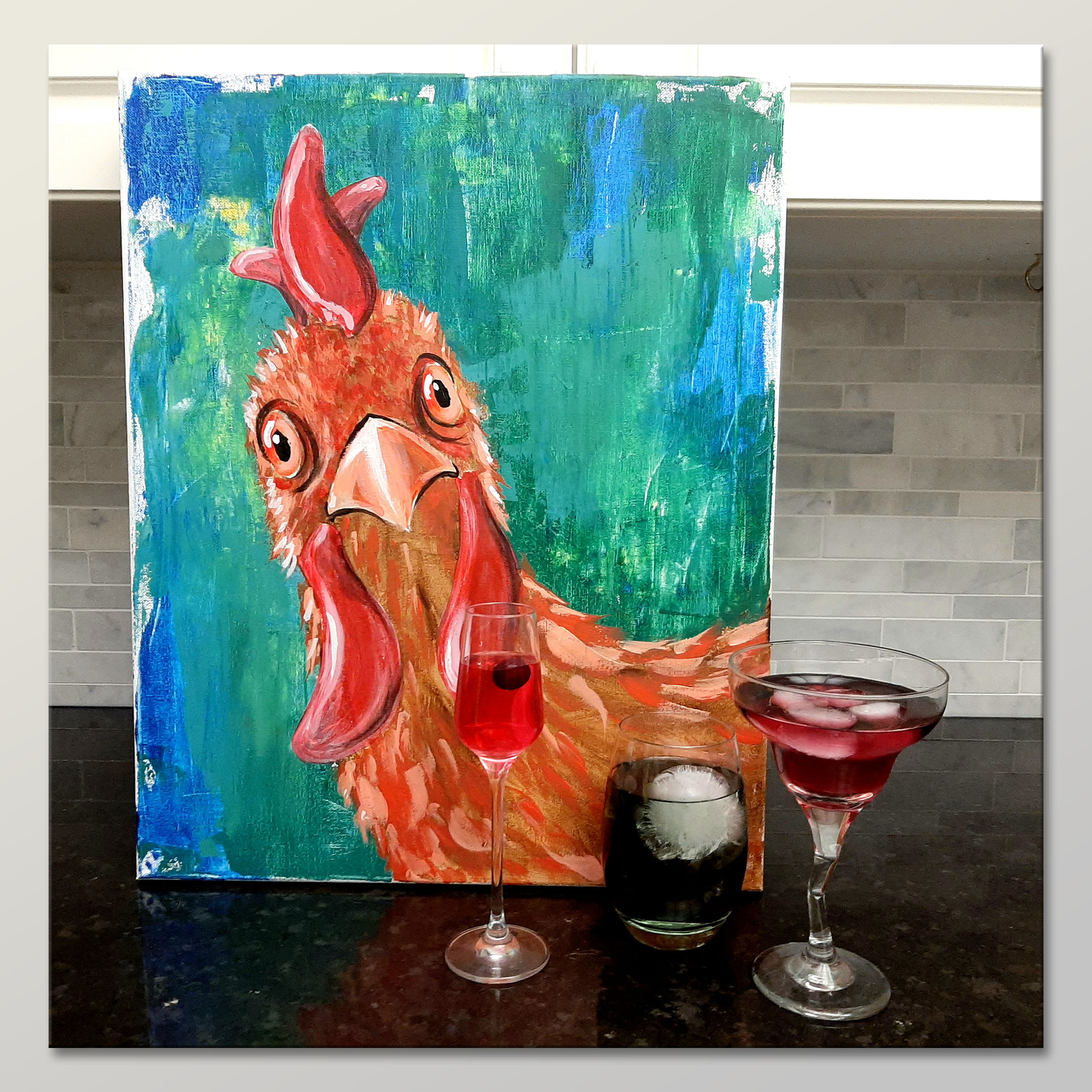 A Chicken Run  Painting and Mixology experience project by Yaymaker