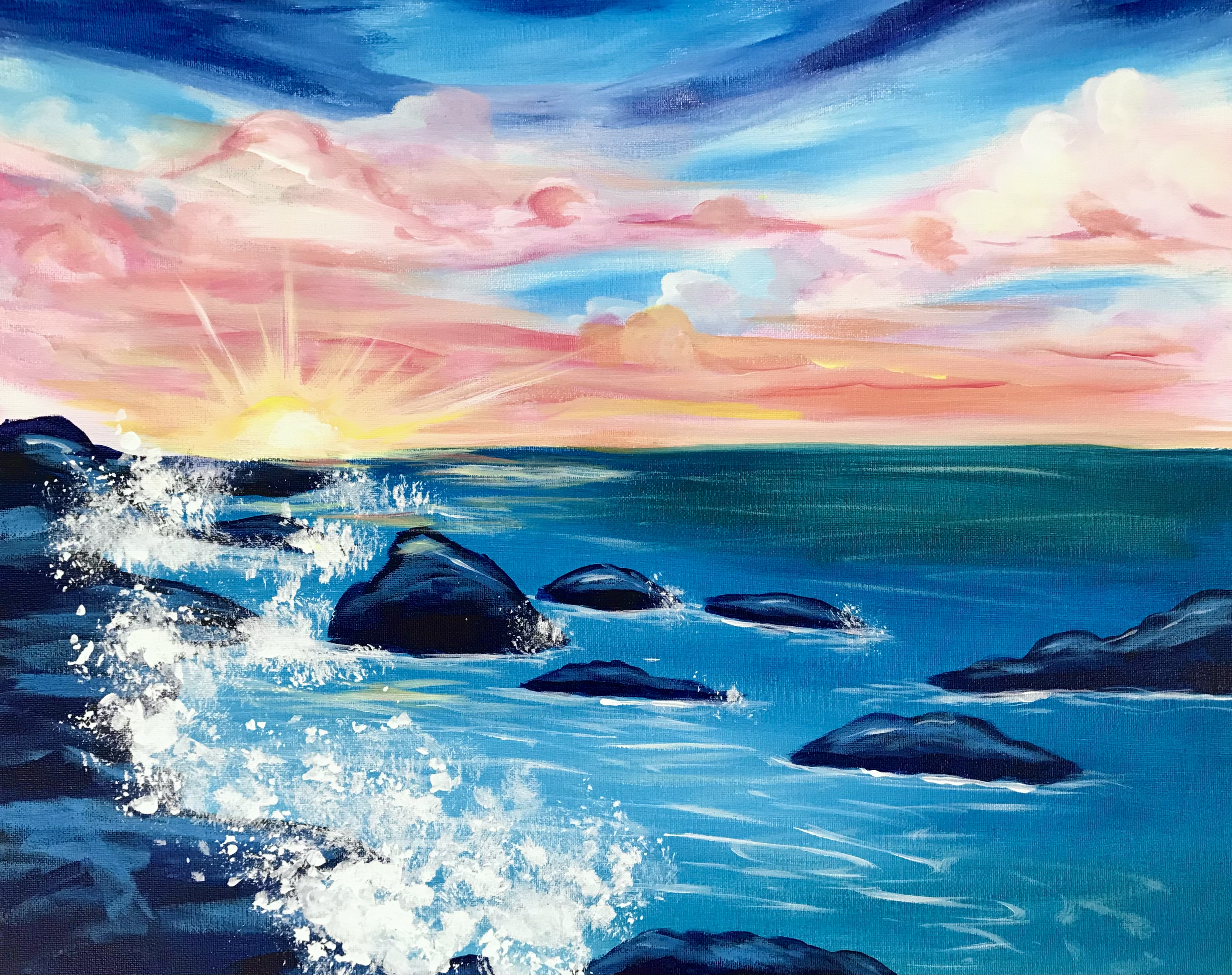 A Rocky Shore Sunset experience project by Yaymaker