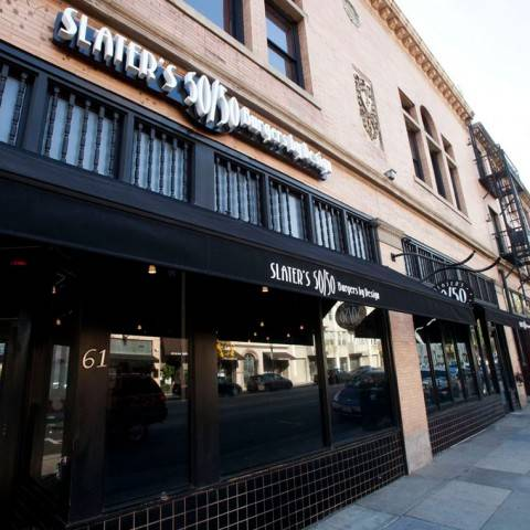 A photo of a Yaymaker Venue called Slater's 50/50 Pasadena located in Pasadena, CA