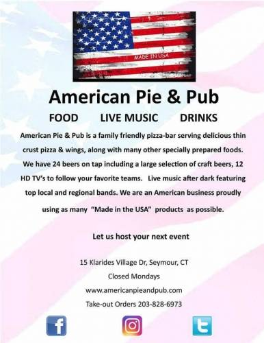 A photo of a Yaymaker Venue called American Pie and Pub located in Seymour, CT