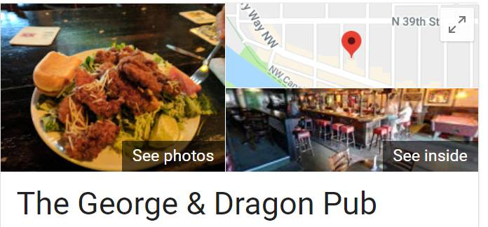 A photo of a Yaymaker Venue called George and Dragon located in Seattle, WA