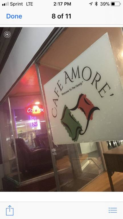 A photo of a Yaymaker Venue called Cafe Amore located in Front Royal, VA