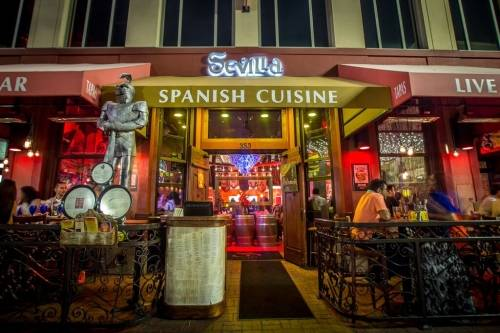 A photo of a Yaymaker Venue called Cafe Sevilla located in San Diego, CA
