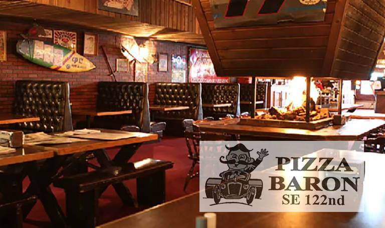 A photo of a Yaymaker Venue called Pizza Baron located in Portland, OR