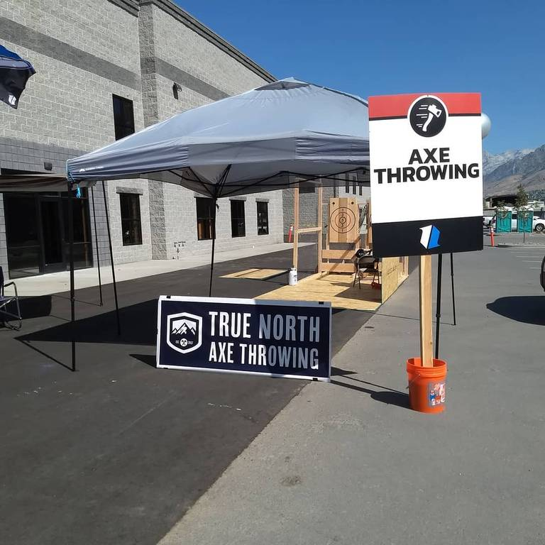 A photo of a Yaymaker Venue called True North Axe Throwing located in Lehi, UT