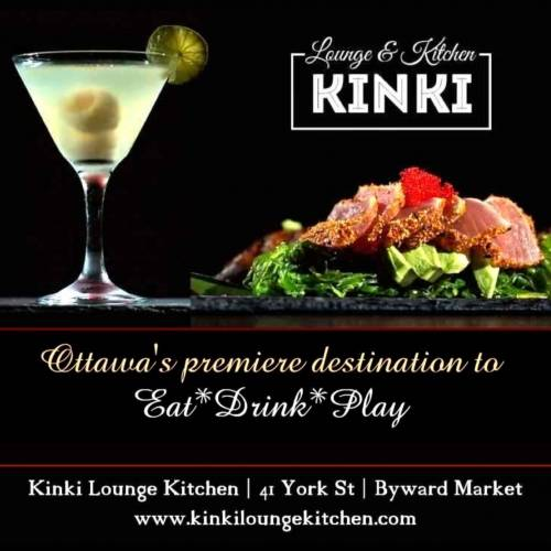 A photo of a Yaymaker Venue called Kinki Lounge Kitchen located in Ottawa, ON