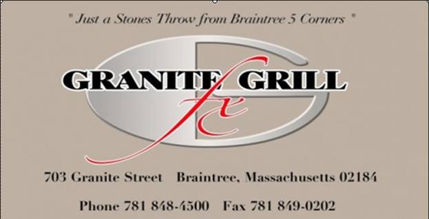 A photo of a Yaymaker Venue called Granite Grill located in Braintree, MA