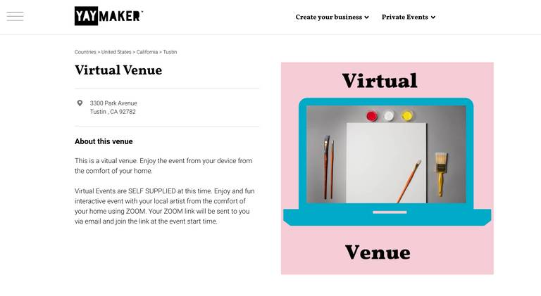 A photo of a Yaymaker Venue called Virtual Venue - Your Device, San Jose, CA located in San Jose, CA