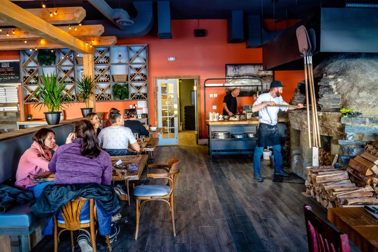A photo of a Yaymaker Venue called Community Flatbread Co. located in Cochrane, AB