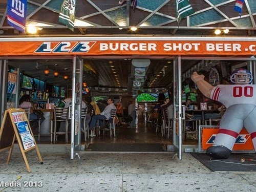A photo of a Yaymaker Venue called 123 Burger Shot Beer (Hell's Kitchen) located in New York, NY