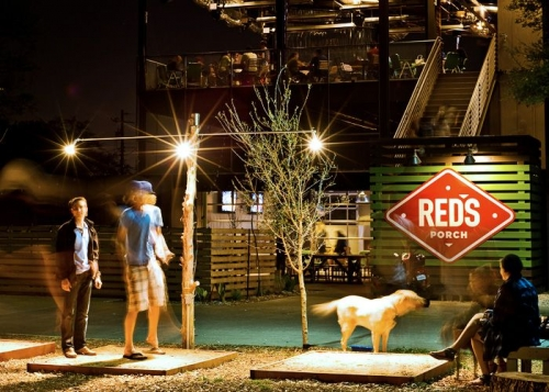 A photo of a Yaymaker Venue called Red's Porch South Lamar located in Austin, TX