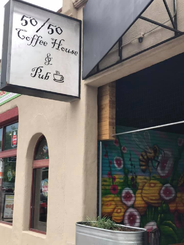 A photo of a Yaymaker Venue called 50/50 Coffee House & Pub located in Albuquerque, NM